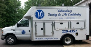 Look for the Williamsburg Heating & Air Conditioning Trucks in your area