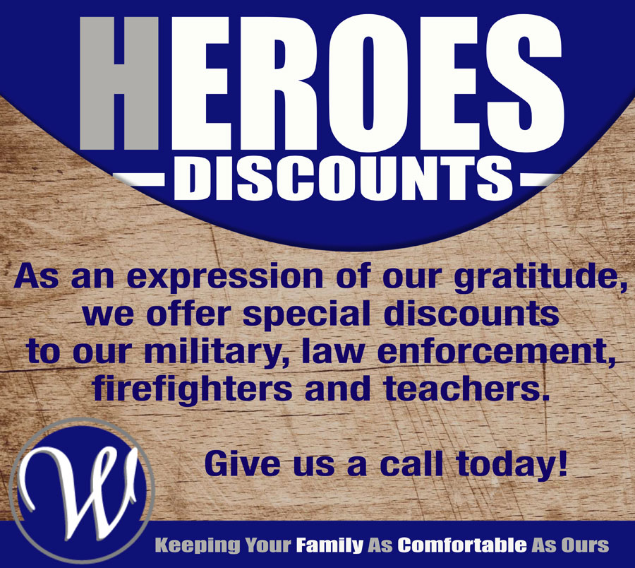 Williamsburg Heating & Air Conditioning, Inc. - Heroes Discounts